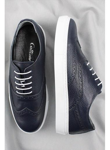 CZ London Hakiki Deri Sneaker Lacivert